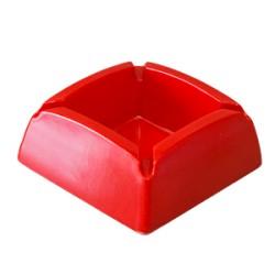 Пепелник меламин квадрат червен