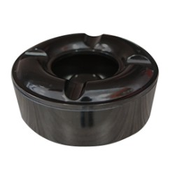 Пепелник меламин кръг черен 10,5см