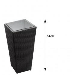 Саксия ратан - Черна 54см