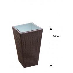 Саксия ратан - Кафява 54см