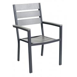 POLYWOOD  Стол с подлакътник - СИВ