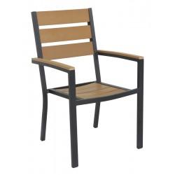 POLYWOOD  Стол с подлакътник - НАТУРАЛ