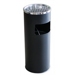 Пепелник кош 18л Черен