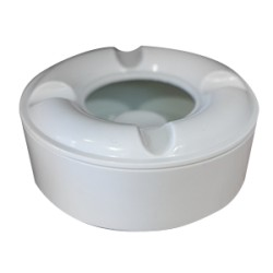 Пепелник меламин кръг бял 10,5см