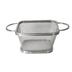 Метална кошничка за сервиране 10x10см