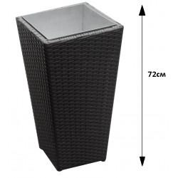 Саксия ратан - Черна 72см